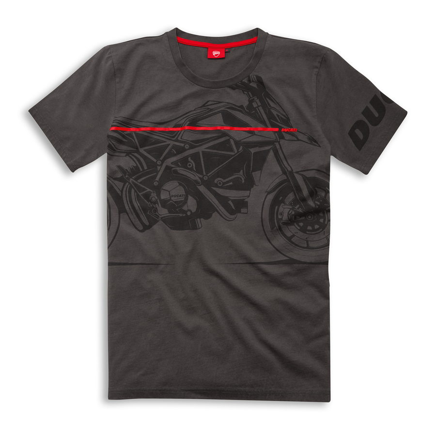 Ducati Red Line Graphic Short Sleeve T-Shirt