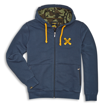 Ducati Scrambler Born Free Hooded Full Zip Sweatshirt