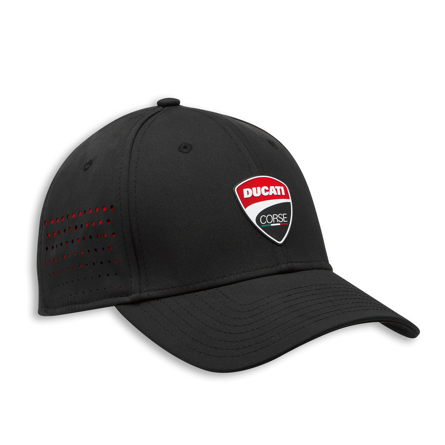 Ducati Corse DC Stretch Fitted Hat in Black by New Era