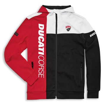 Ducati Mens Corse DC Track Hooded Full-Zip Sweatshirt