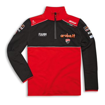 Men's Ducati Corse SBK 20 Team Replica 3/4 Zip Sweatshirt