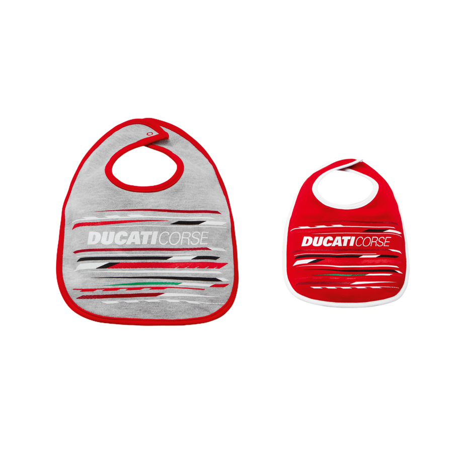 Ducati Corse Sport Motorcycle Racing Baby Bib Set of 2