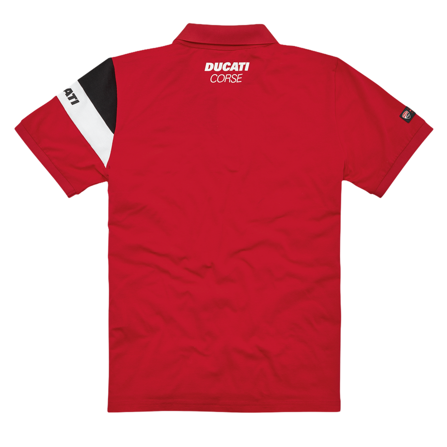 Ducati DC Track Short Sleeve Polo Shirt Red