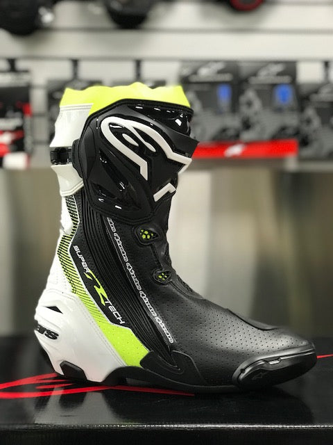 Alpinestars Supertech R Boot Black/White/Yellow Fluo