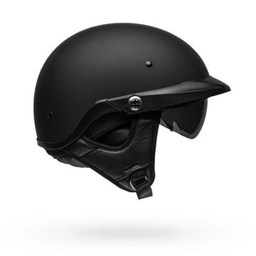 Bell Pit Boss Half Helmet with Internal Visor Matte Black 3XL