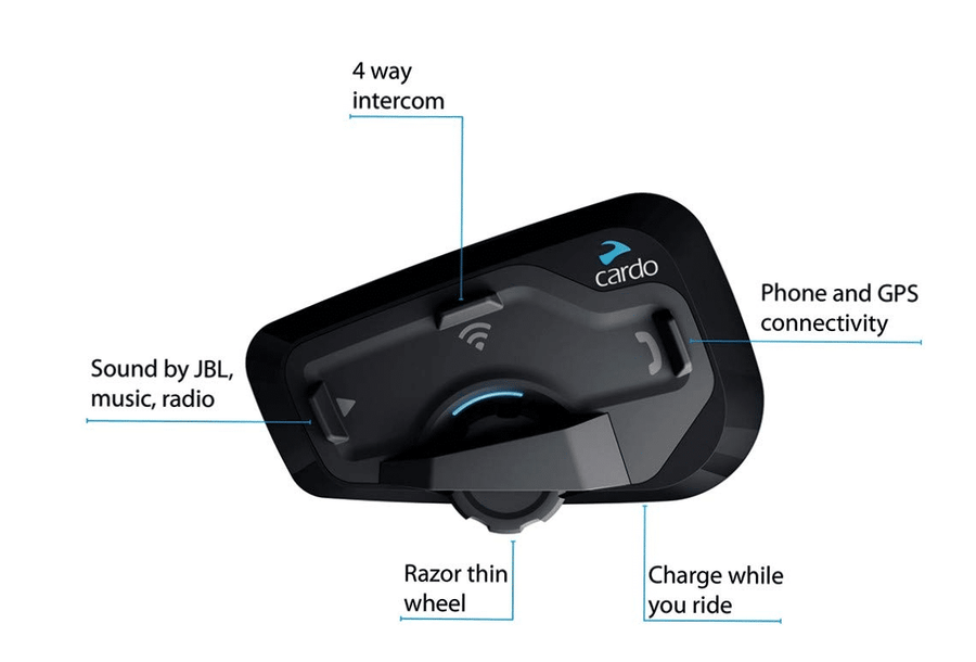 Cardo Freecom 4+ Single Bluetooth Headset