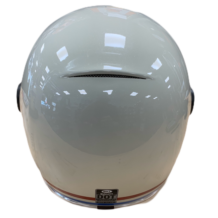 Bell Bullitt Full-Face Motorcycle Helmet Stripes Bubble Sheild