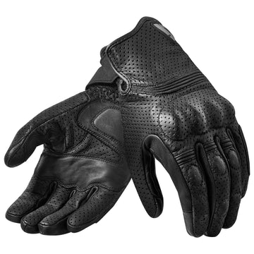 REV'IT! Fly 2 Mens Leather Motorcycle Gloves Black
