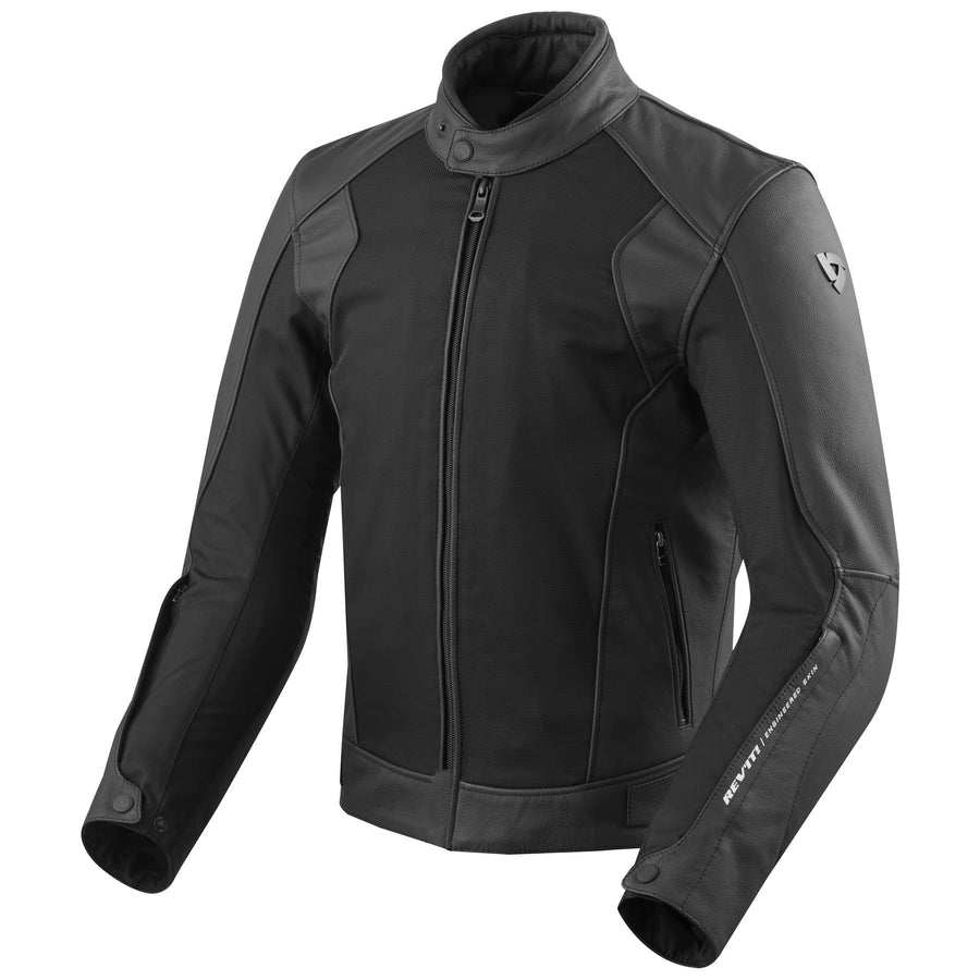 REV'IT! Ignition 3 Perforated Leather & Mesh Motorcycle Jacket Black