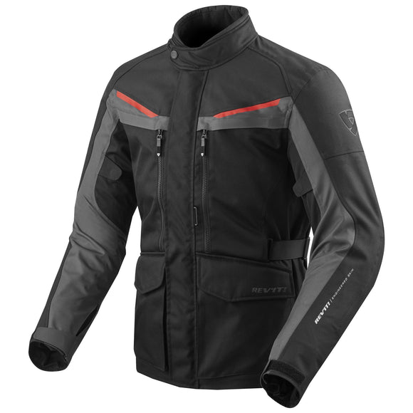 REV'IT! Safari 3 Textile Motorcycle Jacket Black/Anthracite