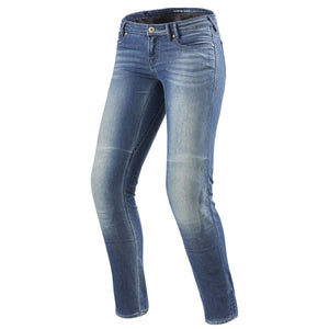 REV'IT! Westwood 2 Womens Motorcycle Jeans Light Blue 32 Length