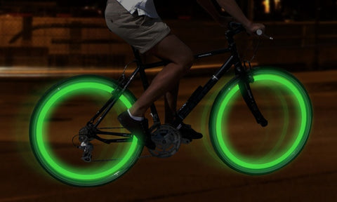 Valve lights for the bike wheel