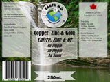 Colloidal Zinc 10ppm, Copper 10ppm & Gold 5ppm 250mL - Earth MD