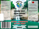 Extra Strength Colloidal Silver 100ppm - Earth MD