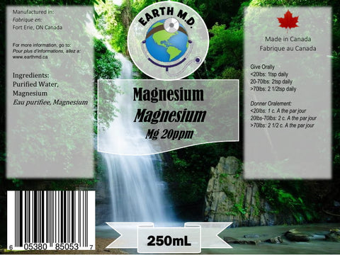 Colloidal Magnesium 20ppm 250mL - Earth MD