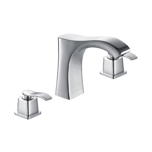 Widespread Brushed Nickel Bathroom Faucet,Builderstock