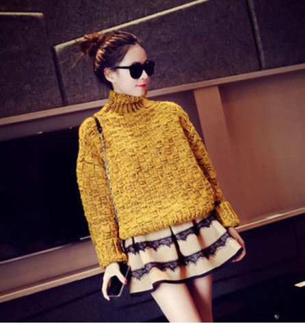 High Collar Thick Rods Blossom Sweater | Hot Nationals Delhi India Korean Fashion k-pop