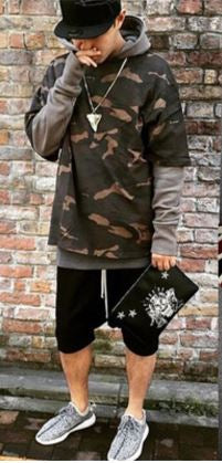 Winter Camouflage Hoodie Sweater