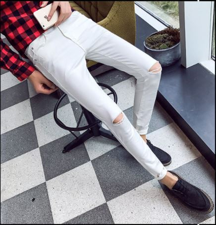 Spring Black and White Tight Jeans