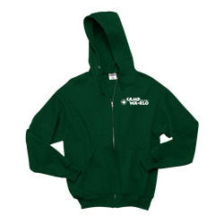 Full Zip Hooded Sweatshirt with Wa-Klo Logo