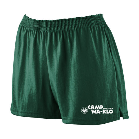 Green Soffe Shorts with Logo