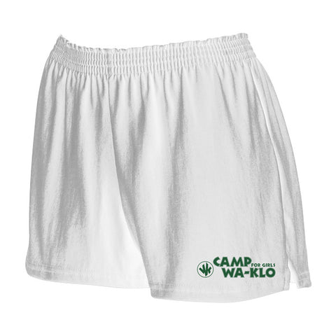 White Soffe shorts with Wa-Klo Logo
