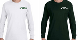Long Sleeve Wa-Klo Green and White shirt.
