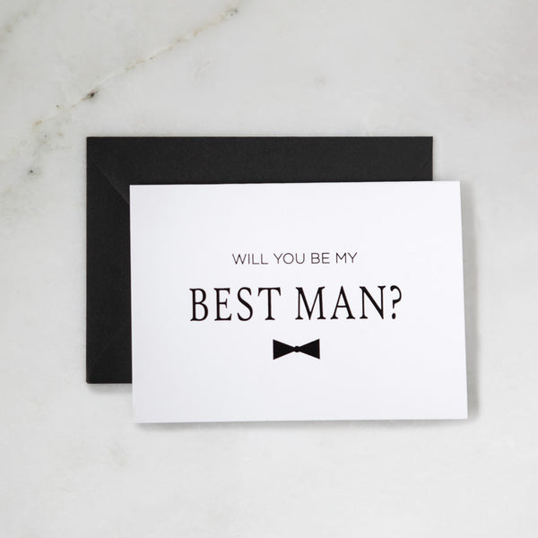 Be My Best Man Greeting Card