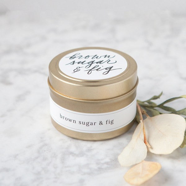 brown sugar and fig candles, hand poured natural soy candles, non-toxic candles, small batch handmade