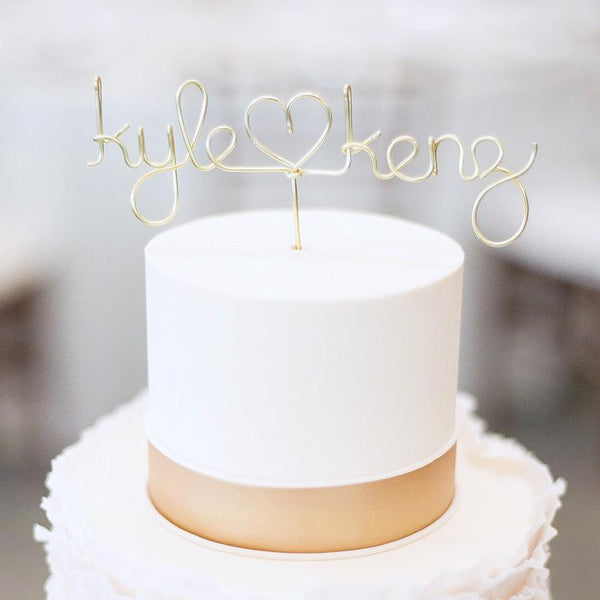 Custom Wire Cake Topper