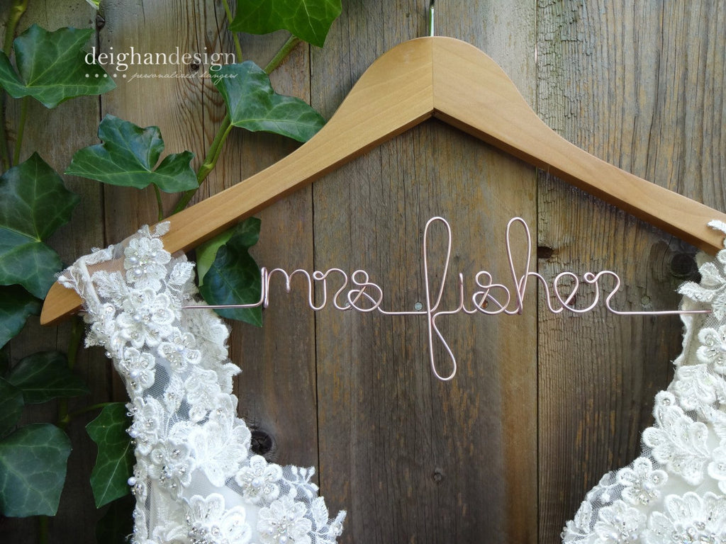 Personalized Wedding Hangers, Bridesmaid Hangers, Bridal Dress Hangers, Bridesmaid Gifts