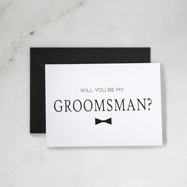 Be My Groomsman Greeting Card
