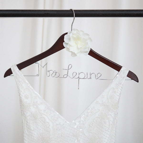 Bride Hanger with Ivory Flower