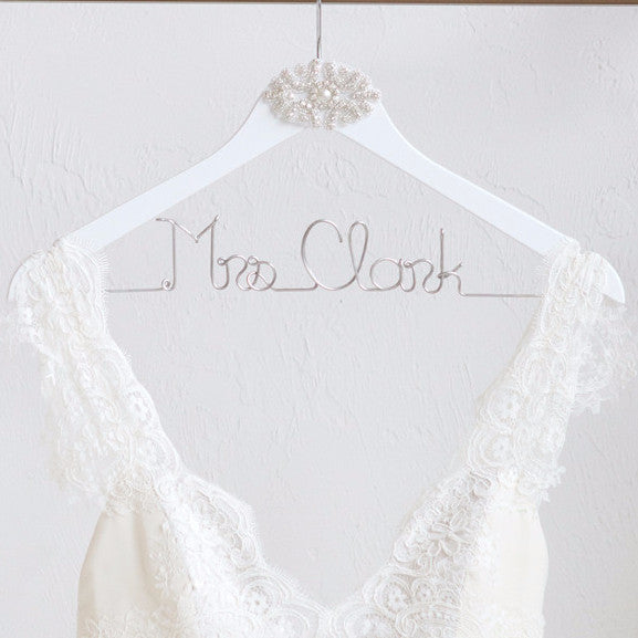 Bride Hanger with Rhinestone Applique