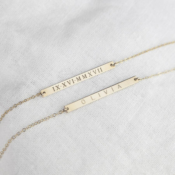 Personalized Engraved Bar Bracelet