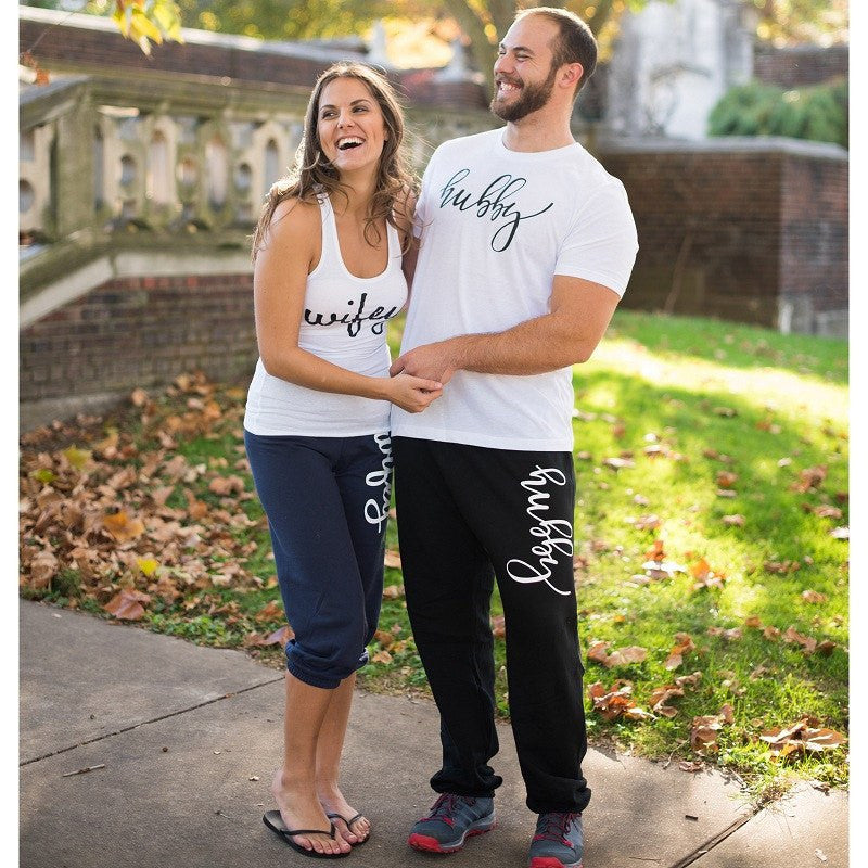 hubby and wifey apparel, honeymoon apparel, hubby shirt, wifey shirt, couples gifts, wedding gifts
