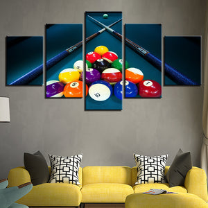 Billiards Pool Table Balls Cue Game Room Panel Wall Art Canvas Print Picture : cheap canvas prints wall paintings pictures