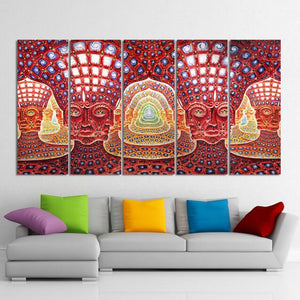 Custom Made 5 Piece Wall Art Printed on Canvas - ASH Wall Decor - Wall Art Canvas Panel Print Painting