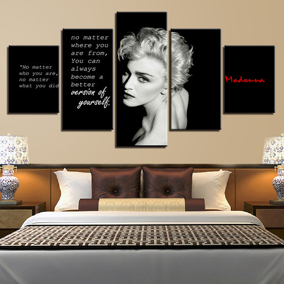 Music Legend POP Madonna Canvas Wall Art Picture Print Home Decor Living Room - ASH Wall Decor - Wall Art Picture Painting Canvas Living Room