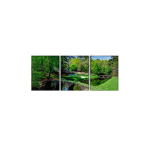 IN STOCK - Augusta Golf Course - Masters Golfing 3 Panel Wall Art