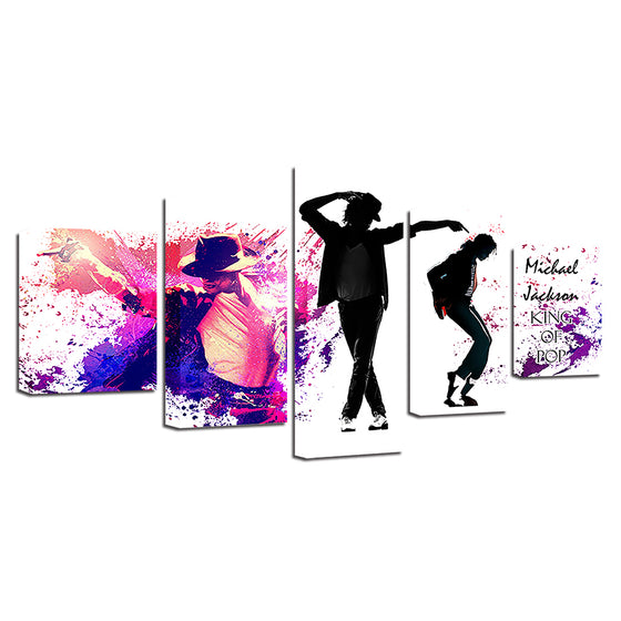 Music Legend Dance King Michael Jackson Abstract Wall Art on Canvas - ASH Wall Decor - Wall Art Picture Painting Canvas Living Room