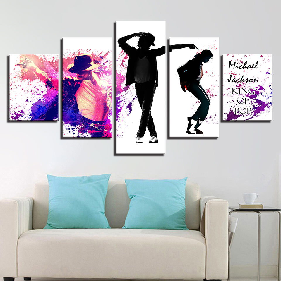 POP Singer Dance King Michael Jackson Abstract Wall Art Canvas Panel ...