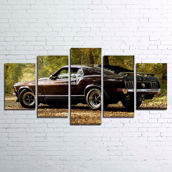 1970 Ford Mustang GT 302  Wall Art on Canvas Print Picture Framed UNframed - ASH Wall Decor - Wall Art Canvas Panel Print Painting