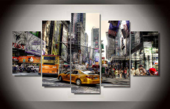 New York City wall art on canvas abstract - ASH Wall Decor - Wall Art Picture Painting Canvas Living Room