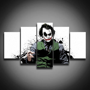 5pcs pieces panels Joker movie print wall art on canvas
