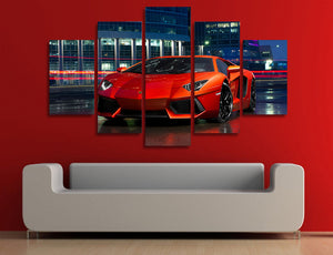 HD Printed Red Lamborghini exotic sports car Canvas Print : cheap canvas prints wall paintings pictures