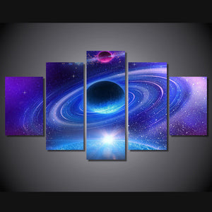 Planet with rings universe wall art on canvas panel picture print : cheap canvas prints wall paintings pictures