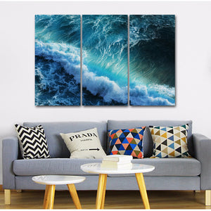 Huge blue wave wall art on canvas ocean picture : cheap canvas prints wall paintings pictures