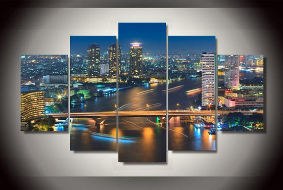 Bangkok Tailand Canvas Print room decor - ASH Wall Decor - Wall Art Picture Painting Canvas Living Room
