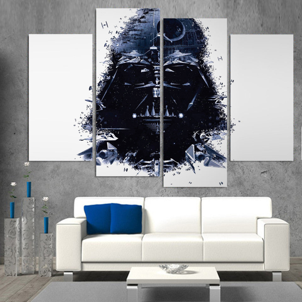 Panel star wars abstract darth vader 4 piece wall art ash wall decor panel star wars abstract darth vader 4 piece wall art ash wall decor wall amipublicfo Gallery